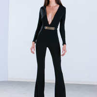 Plate To The Party Flared Jumpsuit