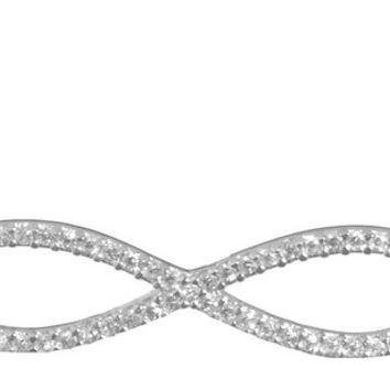 SKU Jewelry CZ Sterling Silver INFINITY Necklace