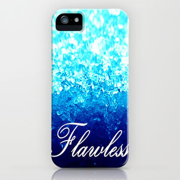 Flawless Turquoise Blue Crystal  iPhone & iPod Case by 2sweet4words Designs