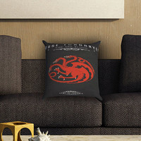 Game Of Thrones - house targaryen Pillow Cover , Custom Zippered Pillow Case One Side Two SIde