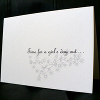 Goth / Alternative Girl's Day - Greeting Card w / envelope - Dark Humor - Recycled Paper - IntricateKnot