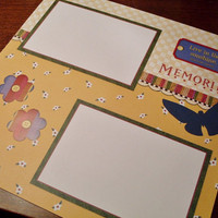 Premade Memories 12 x 12 Scrapbook Page Layout