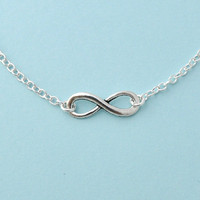 Silver Infinity Necklace, Everyday .. on Luulla