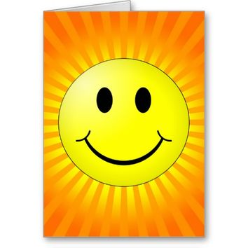 Smiley with rays - Vertical
