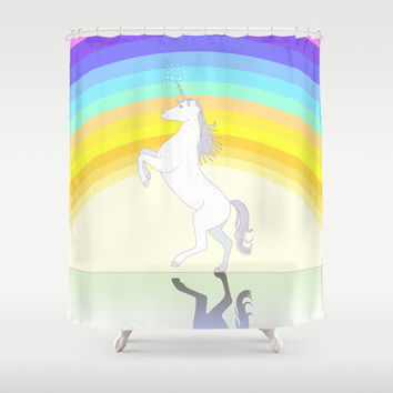Unicorn Shower Curtain by Ornaart | Society6