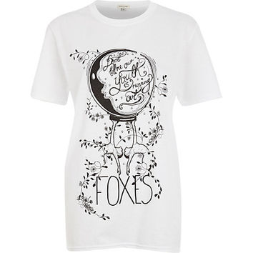 White Foxes official tour t-shirt