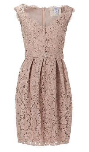 [not available] Collette Dinnigan Peach Sleeveless French Garden Lace Dress - Polyvore