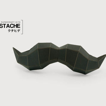 Moustache - DIY Papercraft Kit (pre-cut)