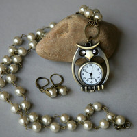 What a Hoot Owl Watch Necklace