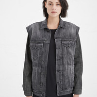 Totokaelo - R13 Black / Raw Double Denim Jacket - $895.00