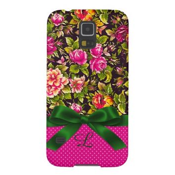 PinkDots/Floral SamsungGalaxy S5 Barely There Case