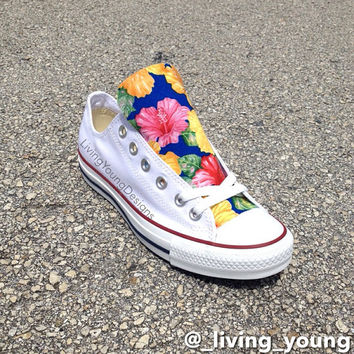 Custom Floral Converse Shoes / Island Floral Chuck Taylors