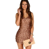Taupe Lucky Penny Dress