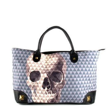 Skull With Pyramid Studs Tote by Loungefly