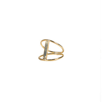 Cut Out Bar Ring - Gold - Gold / Ring (6)