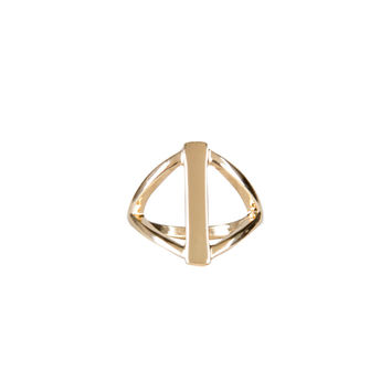 DIAMOND BAR KNUCKLE RING