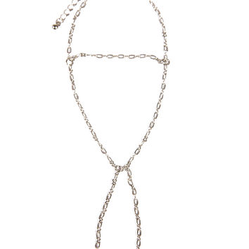 DELICATE CHAINED HAND CHAIN - SILVER