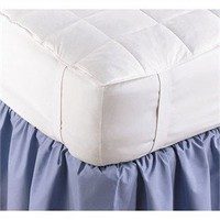 600+ White Goose Down Mattress Pad - Cotton Mattress Pads - Mattress Protectors
