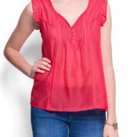 Mango Women&#x27;s Ruffled Blouse