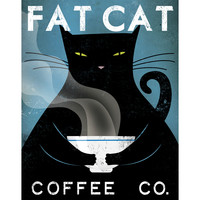 Ryan Fowler 'Fat Cat Coffee Co.' Gallery Wrapped Canvas