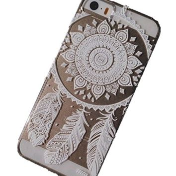 Acefast INC Plastic Case Cover for Iphone 5 5s 5c Henna Ojibwe Dream Catcher Ethnic Tribal (For…