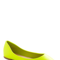 Day and Nightlife Flat in Yellow | Mod Retro Vintage Flats | ModCloth.com