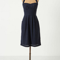 Eyelet Branch Halter Dress