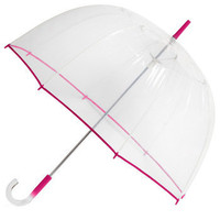 Un-teal the Clouds Clear Umbrella in Fuchsia | Mod Retro Vintage Umbrellas | ModCloth.com