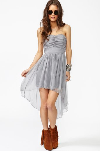 Tallulah Chiffon Dress - Silver
