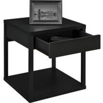 Walmart: Mainstays Parsons End Table with Drawer, Multiple Colors