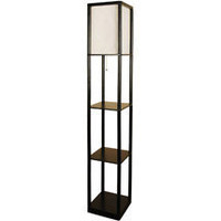 Walmart: Mainstays Shelf Floor Lamp with Wood Shelves