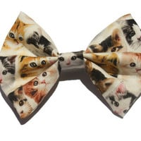 Cat/Kitten Printed Hair Bow