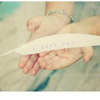 White Feather I Love You White Dove.. on Luulla