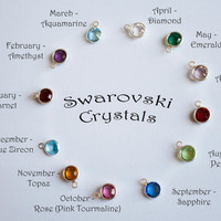 Birthstone/Pearl add-on for necklaces and key chains