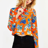 Sister Jane Cross Flower Blouse - Urban Outfitters