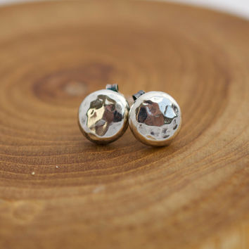 Sterling Silver pebble earrings, Sterling Earrings, minimalist jewelry, Recycled Silver Jewelry