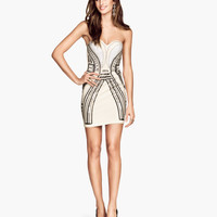 H&M Sequined Bandeau Dress $59.95