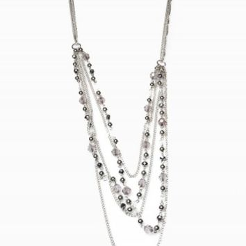 BEAD SWAG LAYERED NECKLACE