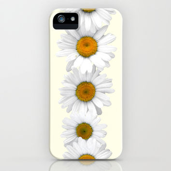 Daisy Chains on Pastel Yellow iPhone & iPod Case by Tangerine-Tane