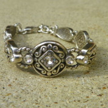 Beautiful Brighton Silver Bracelet with Bling Excellent Condition