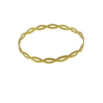 SKU Jewelry Gold Plated Sterling Silver Bangle