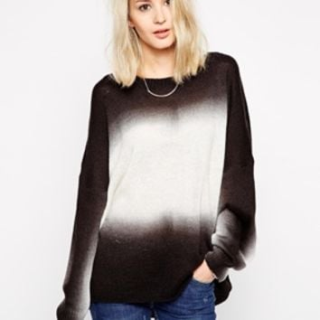 Religion Dip Dye Over Sized Sweater
