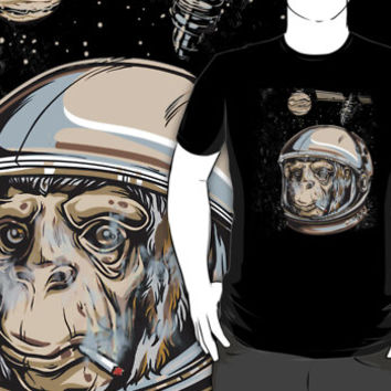 Space Monkey (Smoking a Joint)