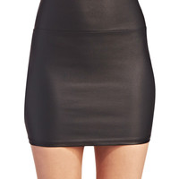 Leather Coated Mini Skirt | Wet Seal