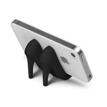 "Black ""Pumped Up"" Phone Stand by Fred & Friends"
