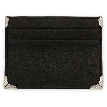Embellished Slim Leather Wallet by RockLove Jewelry