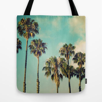 Palms Blue Tote Bag by RichCaspian | Society6