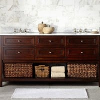 Classic Double Sink Console - Espresso finish