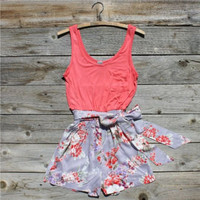 Apple Blossom Romper, Women&#x27;s Vintage Inspired Clothing