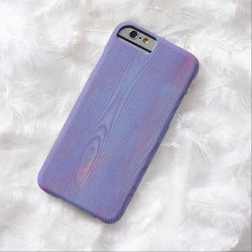 Abstract violet wood textured iPhone 6 case